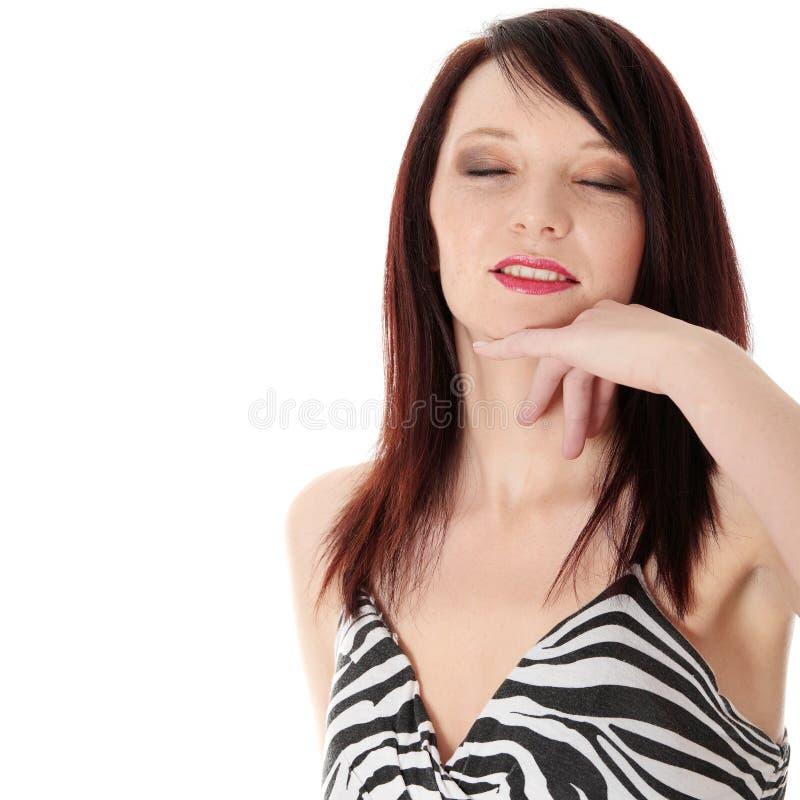 детеныши шикарной женщины платья стоковое фото rf