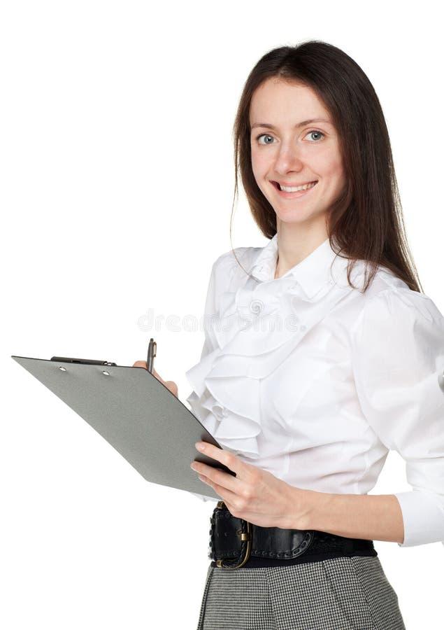 детеныши clipboard коммерсантки ся стоковые фото