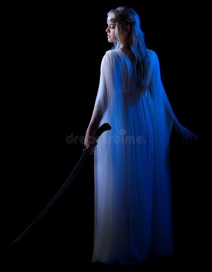 Детеныши elven изолированная девушка стоковое изображение