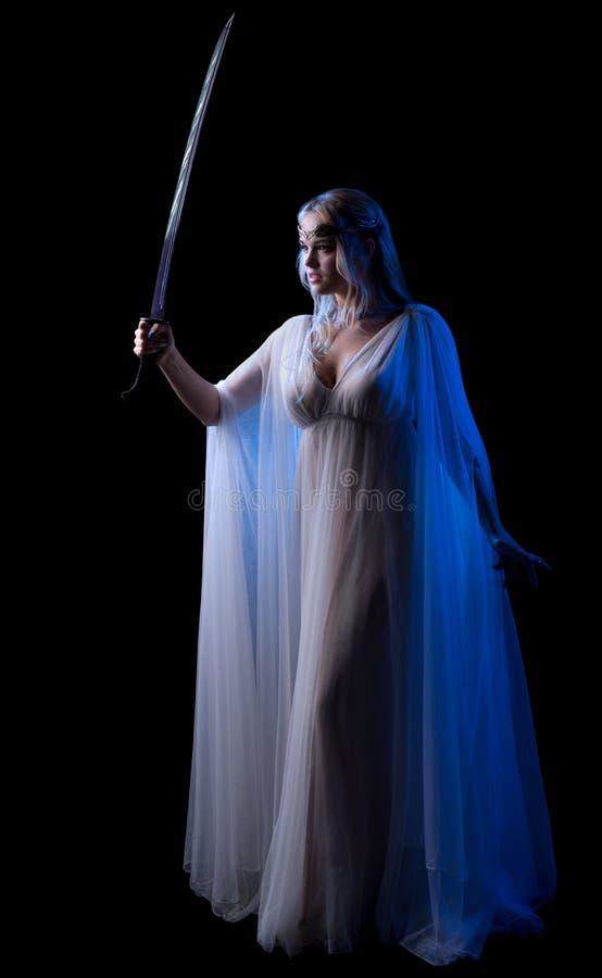 Детеныши elven изолированная девушка стоковые изображения rf