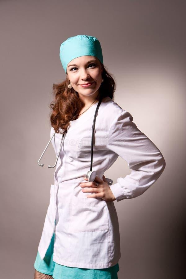 детеныши endoscope доктора обольстительные стоковые изображения