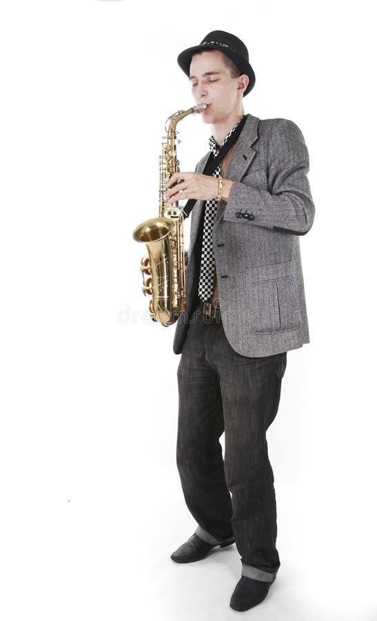 детеныши jazzman стоковые фотографии rf