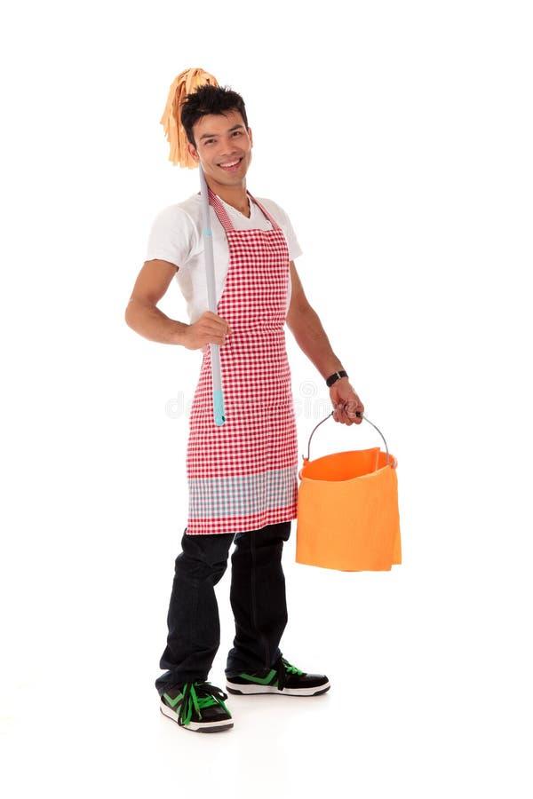 детеныши nepalese человека housework сь стоковое изображение