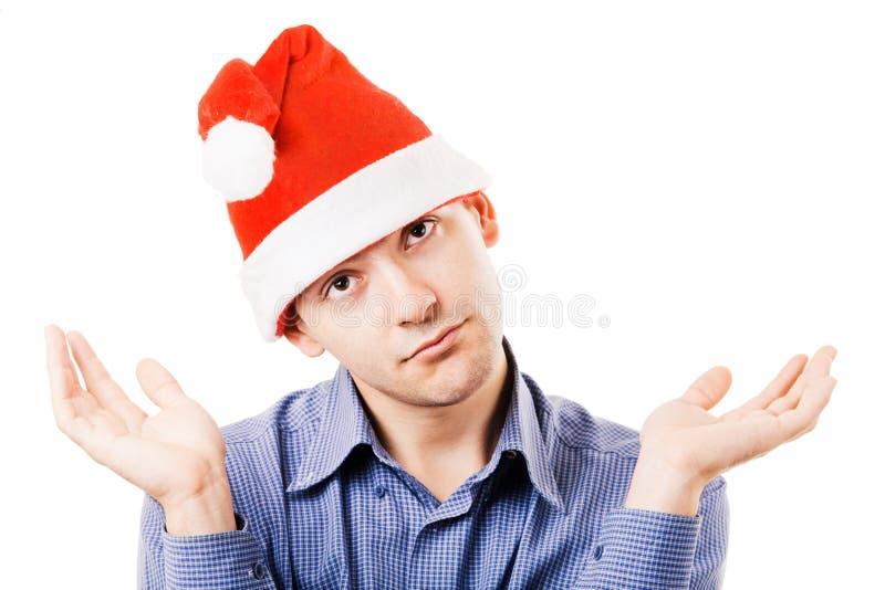 детеныши santa человека шлема стоковое изображение