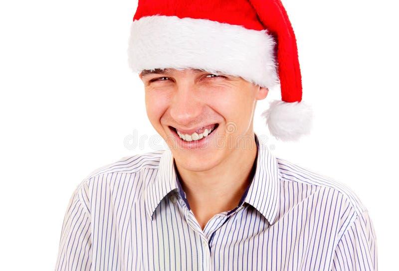 детеныши santa человека шлема стоковое фото rf