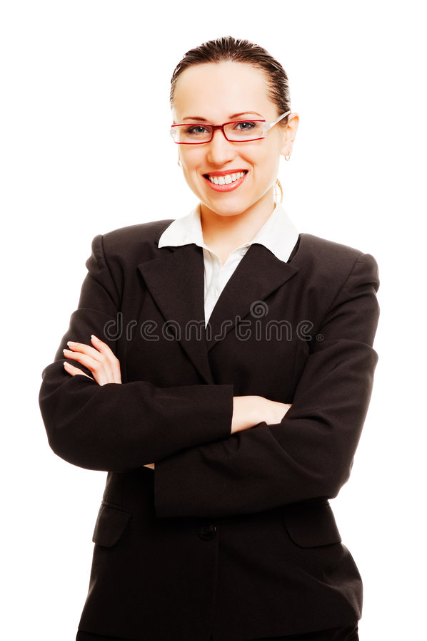 детеныши smiley стекел коммерсантки стоковое фото rf