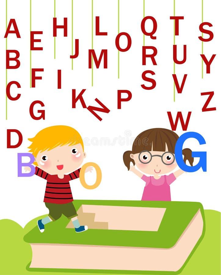 дети алфавита иллюстрация вектора