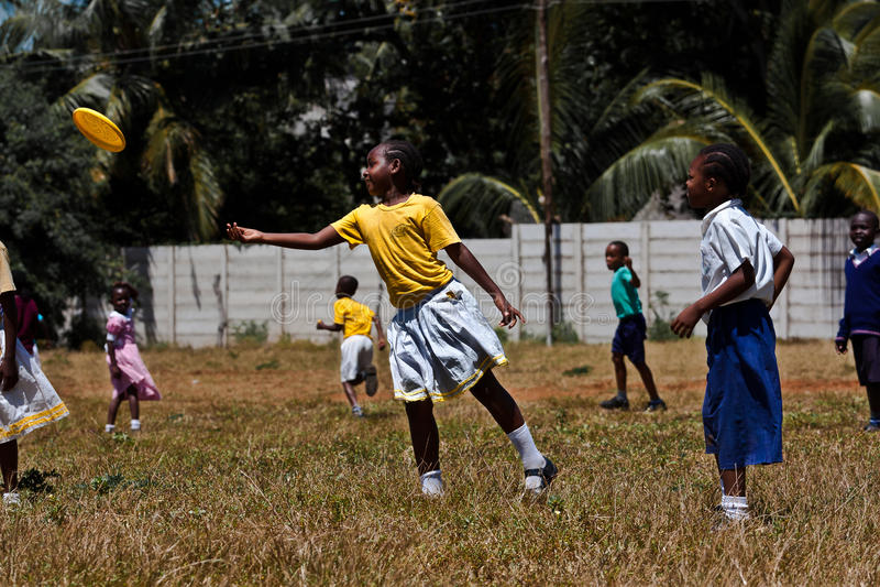 дети Африки freesby стоковое изображение