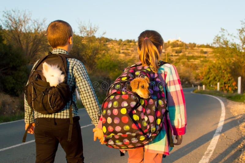 Дети беглеца стоковая фотография rf