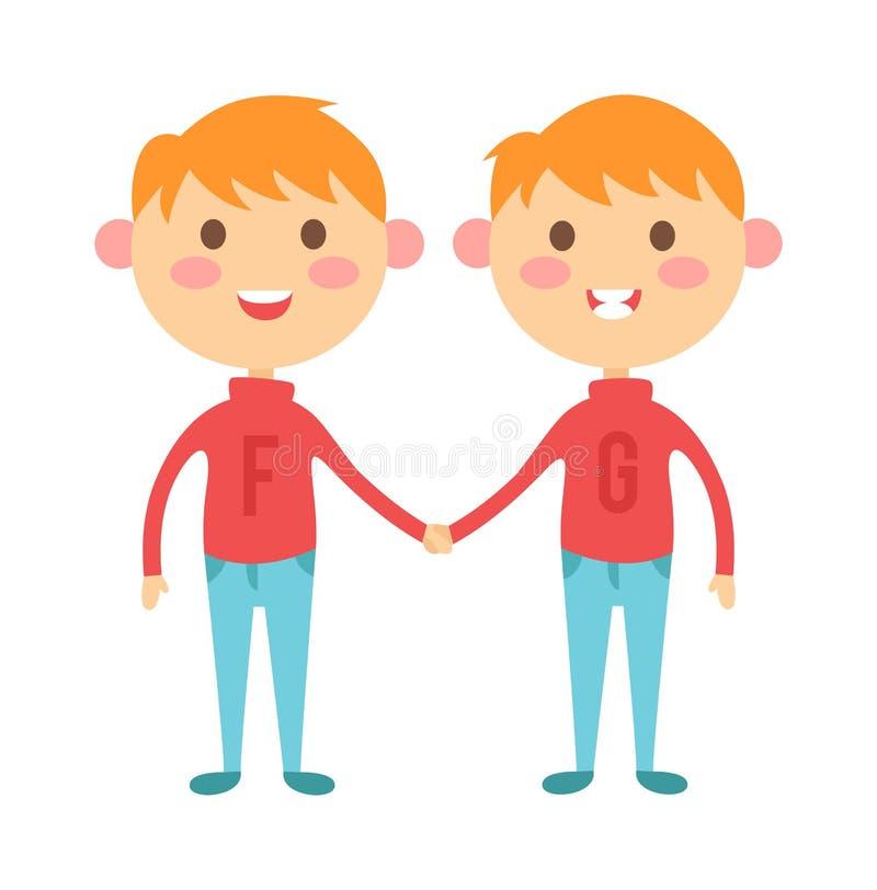 Двойняшки мальчики картинки нарисованные, надписью