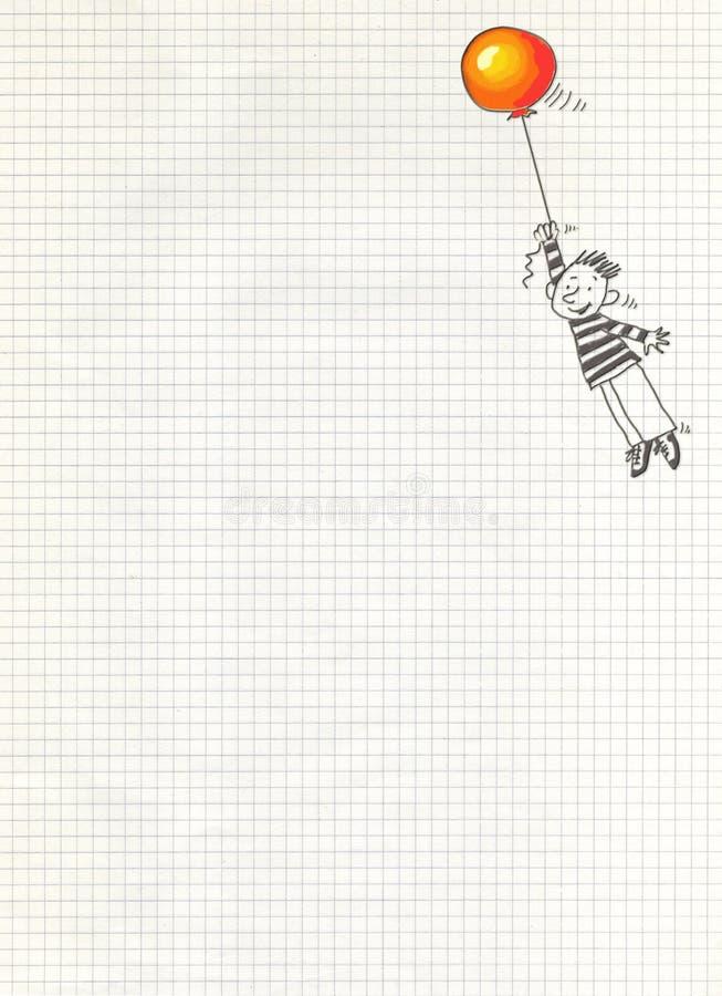 дети воздушного шара иллюстрация вектора