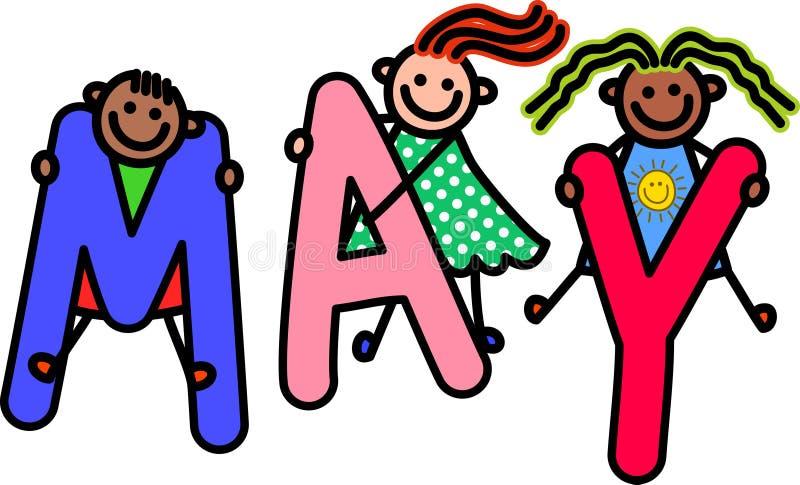 Дети в мае иллюстрация штока