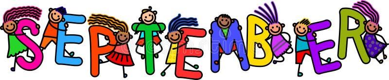Дети в сентябре бесплатная иллюстрация