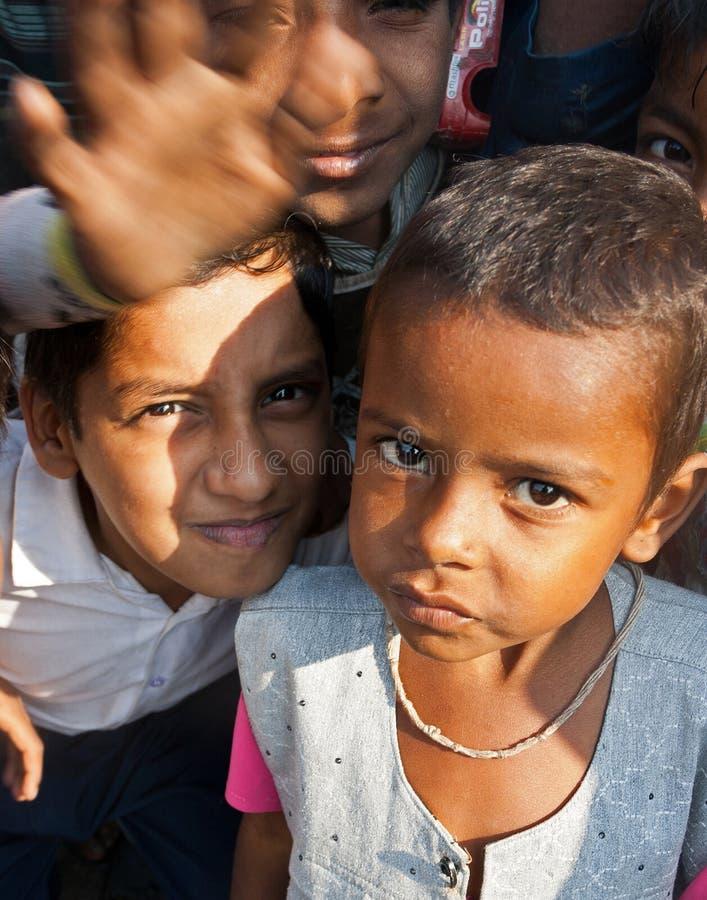 Дети в Сурате, Индии стоковая фотография rf