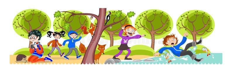 дети деревянные бесплатная иллюстрация