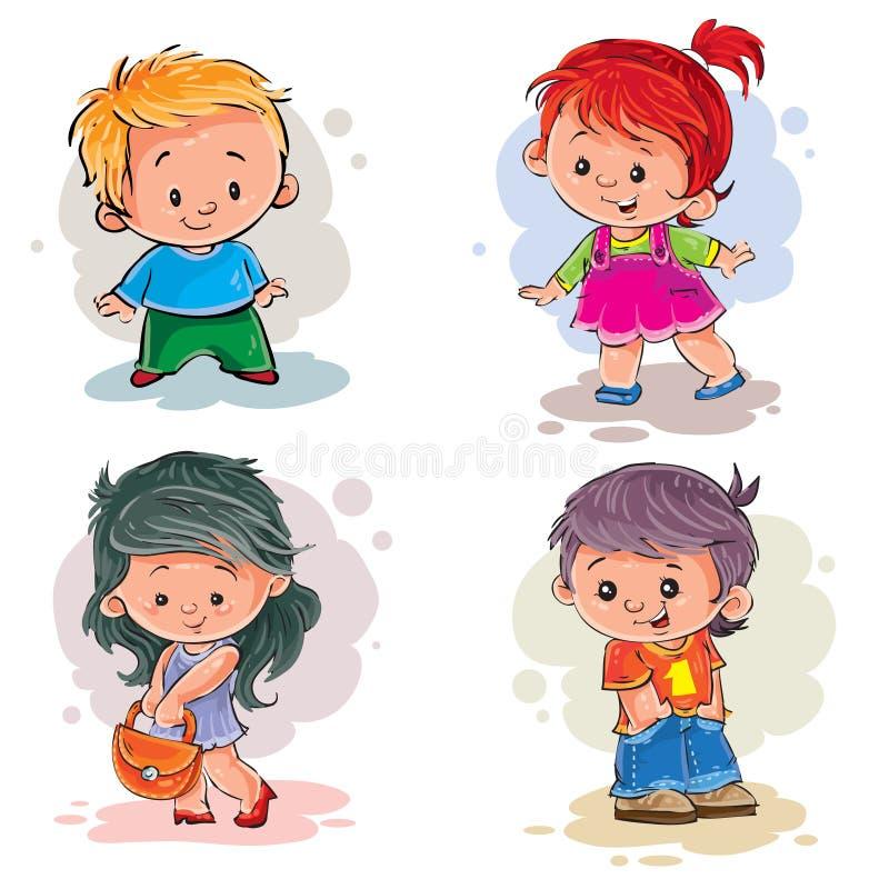 Дети девушки зажима мальчиков искусства бесплатная иллюстрация