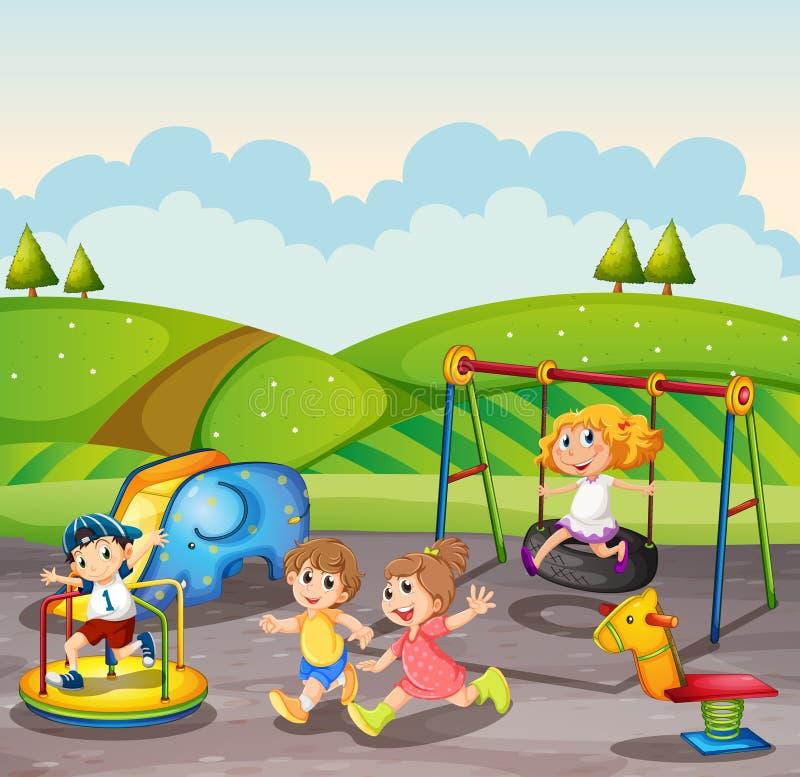Игры на детской площадке картинка