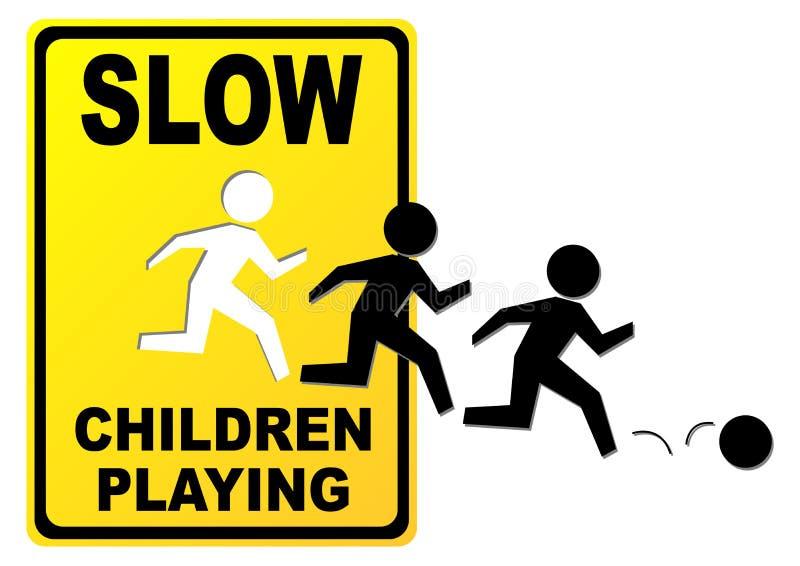 дети играя знак бесплатная иллюстрация