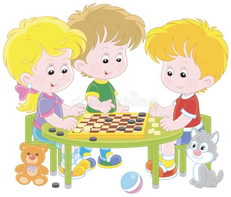 Дети играя контролеров бесплатная иллюстрация