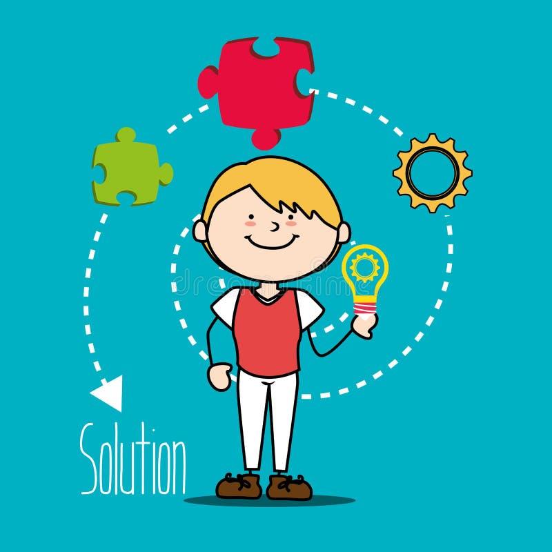 Дети играя шарж, бесплатная иллюстрация