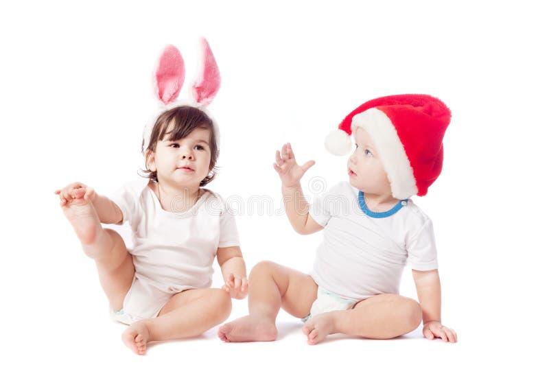 дети изолировали белизну стоковые изображения rf