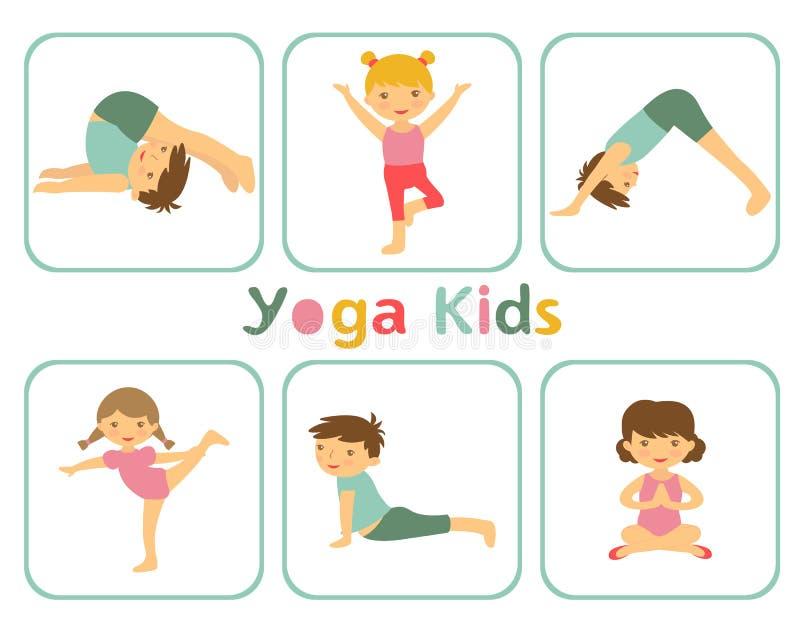 Дети йоги бесплатная иллюстрация