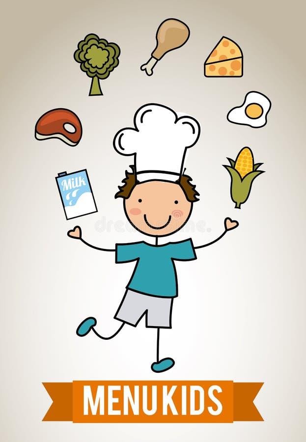 Дети меню бесплатная иллюстрация