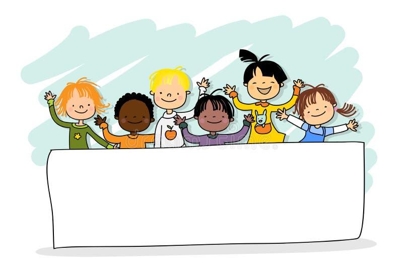 дети многокультурные иллюстрация вектора