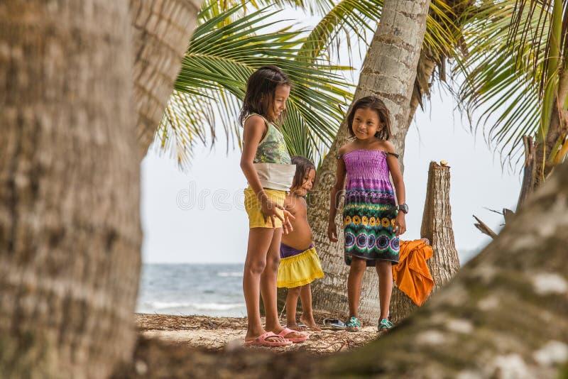Дети островов Сан Blas стоковое изображение