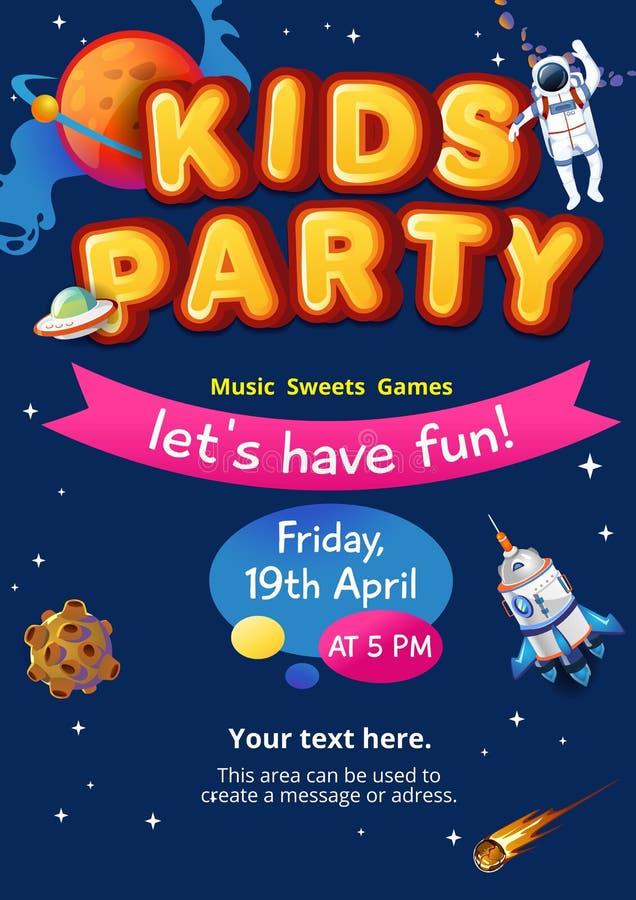 Дети, партия, вектор, предпосылка, иллюстрация, потеха, день рождения, дизайн, цирк, знамя, мультфильм, счастливый, зона, ребенк, иллюстрация штока