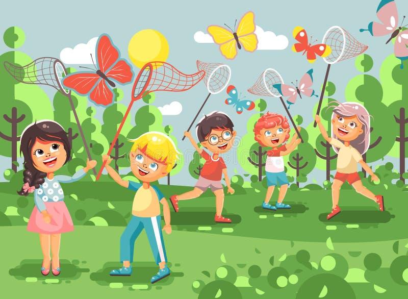 Дети персонажа из мультфильма иллюстрации вектора иллюстрация вектора