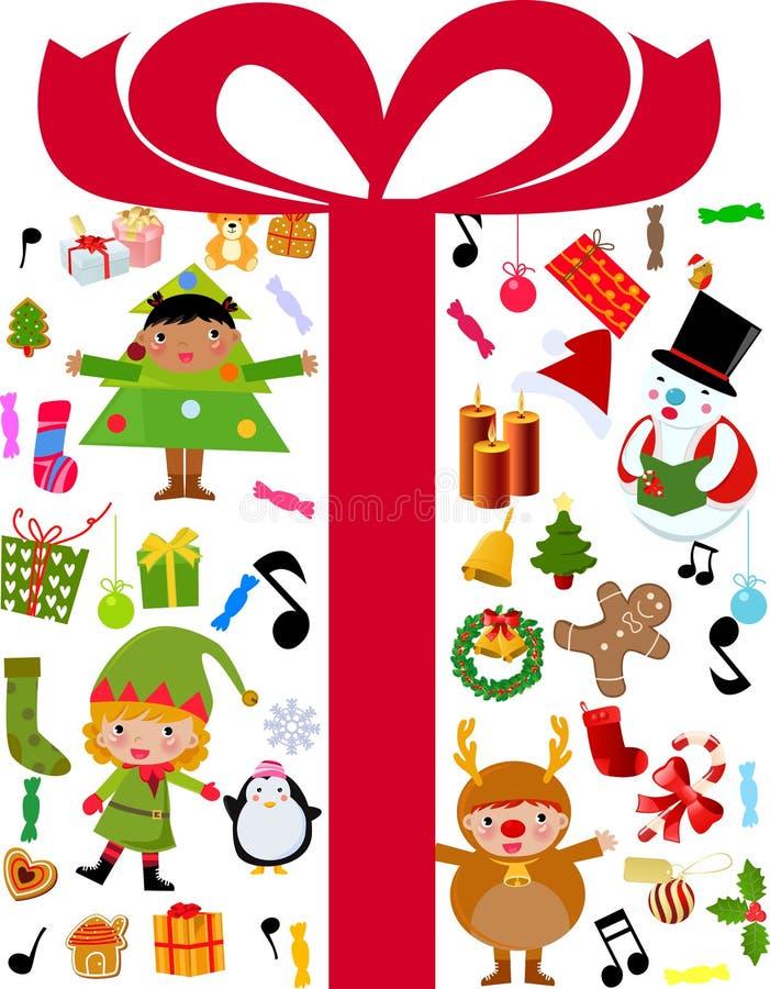 Дети рождества иллюстрация вектора