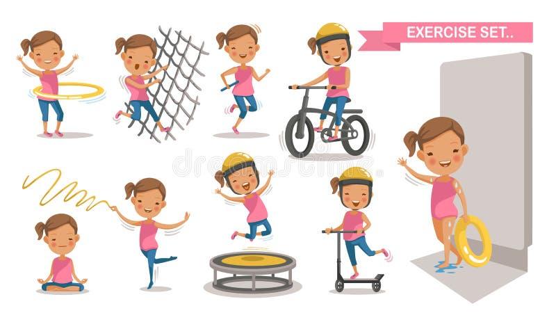 Дети спорта иллюстрация вектора