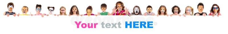 Дети с животной сторон-краской стоковое изображение rf