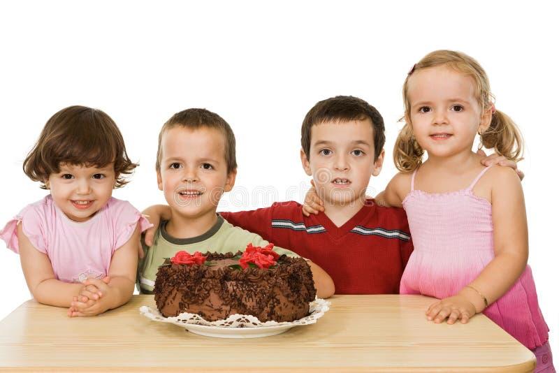 дети торта стоковые изображения