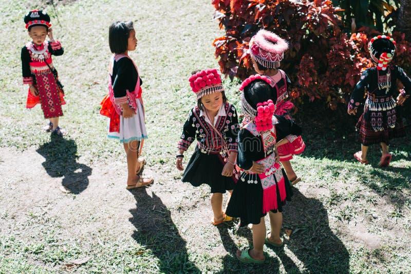 Дети трибы холма Hmong стоковые фото
