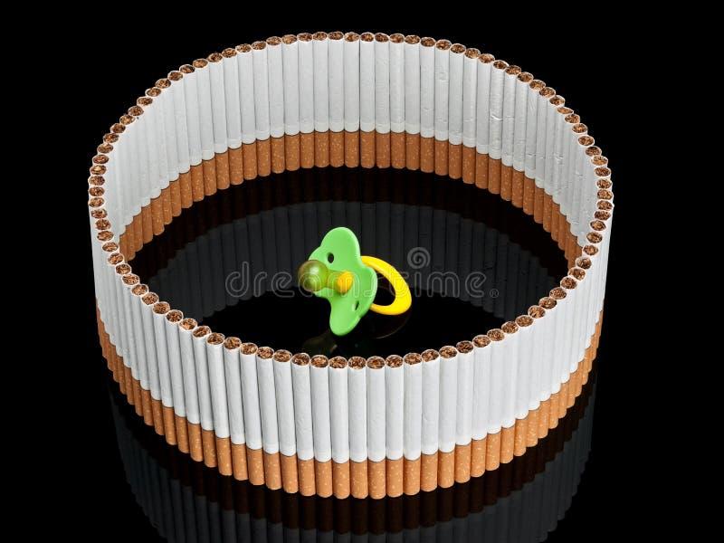 Дети думмичные в окружающей среде загородки от сигарет стоковые фото