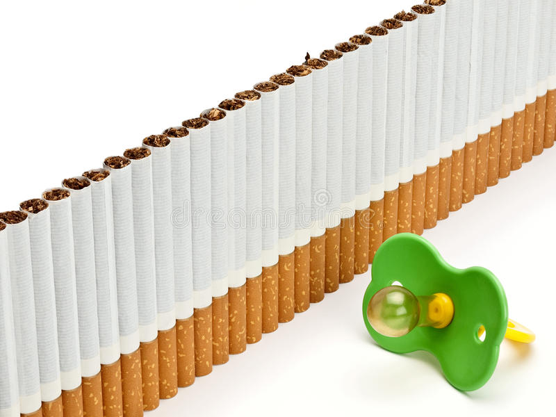 Дети думмичные против защиты от сигарет стоковое фото
