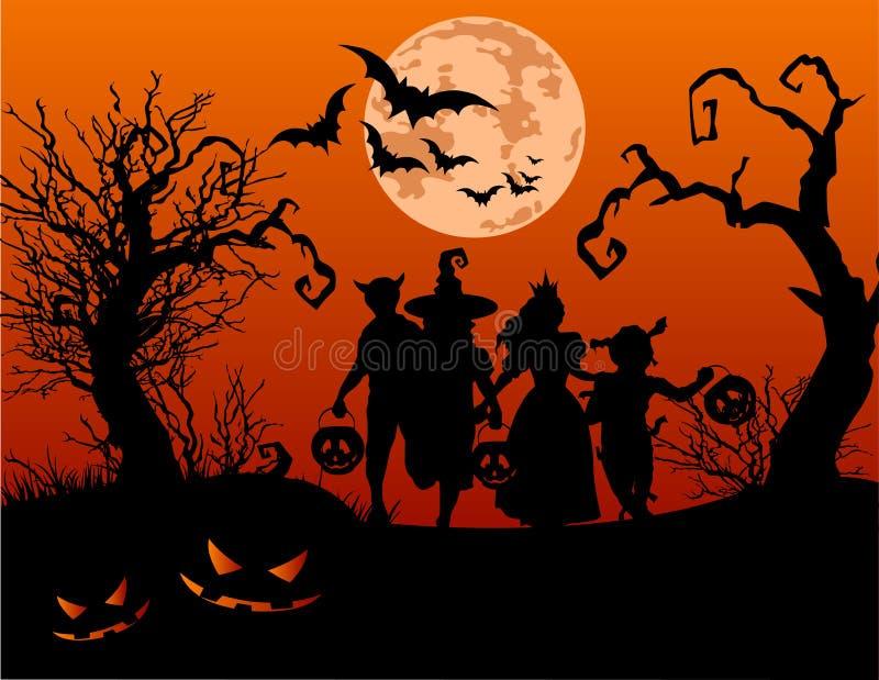 Дети хеллоуина бесплатная иллюстрация