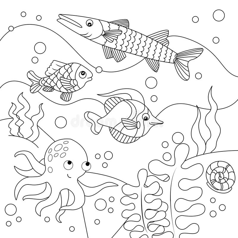 Дети шаржа крася иллюстрацию вектора бесплатная иллюстрация