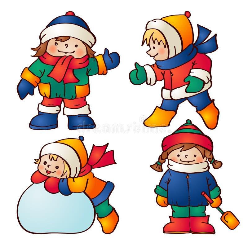 Download Дети иллюстрация вектора. иллюстрации насчитывающей художничества - 33727699
