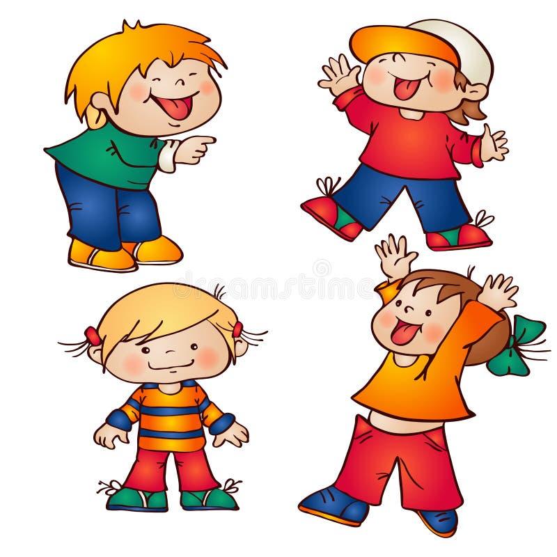 Download Дети иллюстрация вектора. иллюстрации насчитывающей мило - 33728913