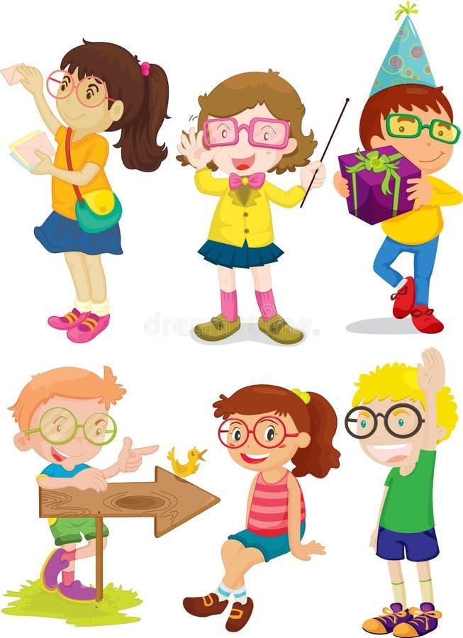 дети иллюстрация штока