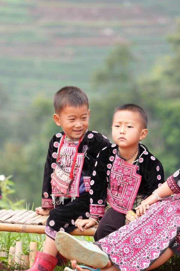 Дети Hmong стоковая фотография rf