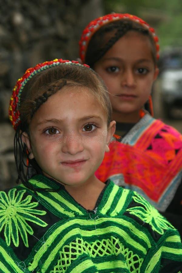 Дети Kalasha стоковое фото rf