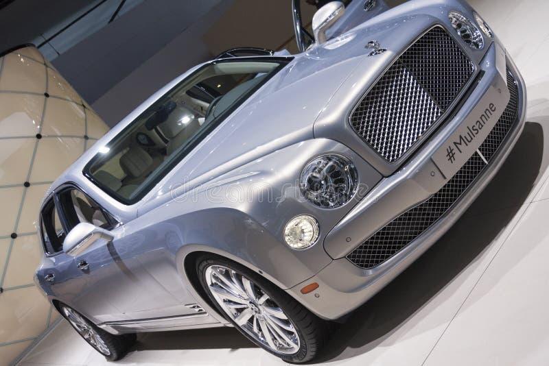 ДЕТРОЙТ - 26-ОЕ ЯНВАРЯ: Новое Bentley 2015 Mulsanne на севере стоковое изображение rf