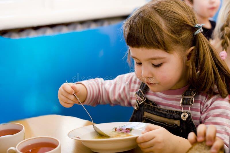 детсад обеда стоковое изображение rf