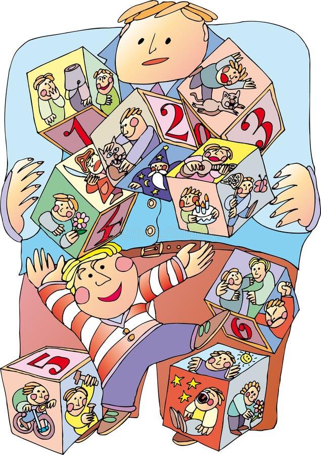 детская игра иллюстрация вектора