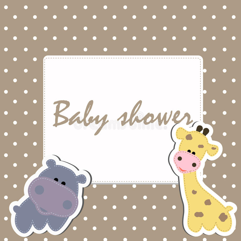 Детский душ рамки иллюстрация штока
