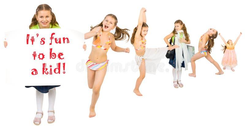 детство счастливое стоковое изображение